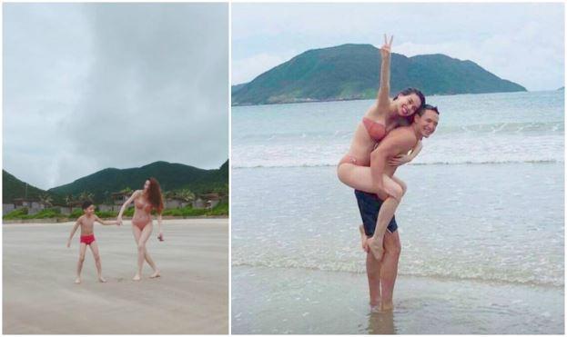 Cùng nhau đi biển, Hà Hồ – Kim Lý củng cố nghi án hẹn hò