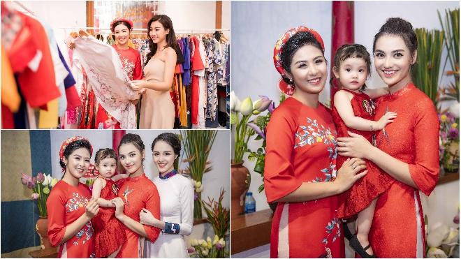 Dàn mỹ nữ đình đám của showbiz rạng rỡ hội ngộ giữa tiết trời 'như đổ lửa' ở Hà Nội