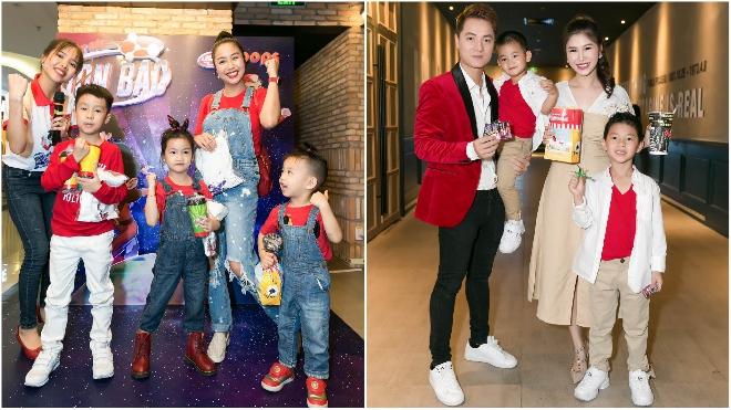 Ốc Thanh Vân đưa 3 con đi xem phim, tái ngộ gia đình Đăng Khôi