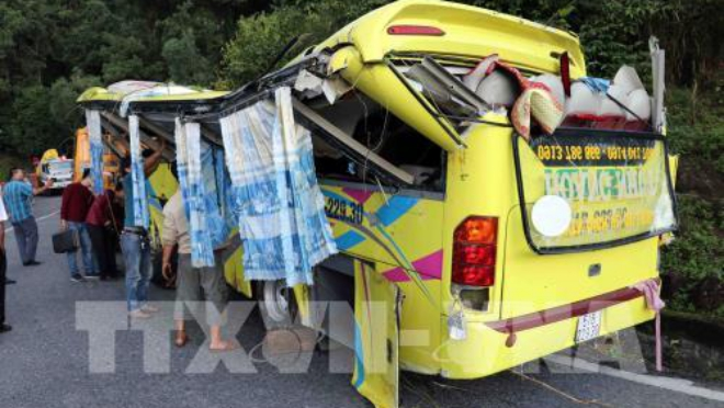 Vụ xe khách rơi xuống vực ở đèo Hải Vân: Nguyên nhân do xe bị mất phanh