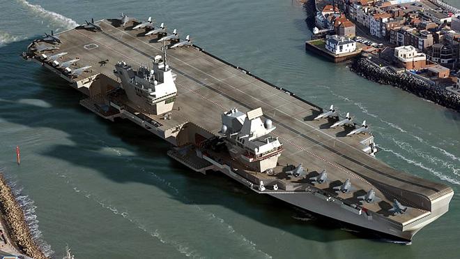 VIDEO: Anh hạ thủy tàu sân bay lớn nhất trong lịch sử