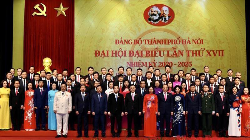 Danh sách Ban chấp hành Đảng bộ thành phố Hà Nội, nhiệm kỳ 2020 - 2025