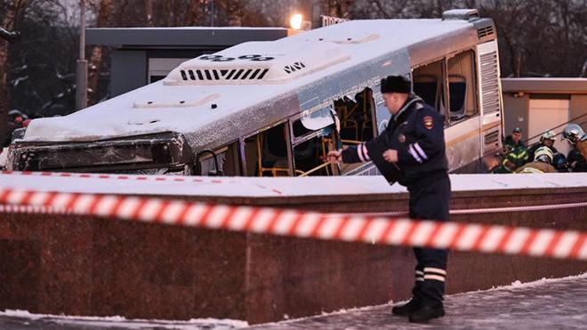 Xe buýt lao vào người đi bộ ở thủ đô Nga, 15 người thương vong