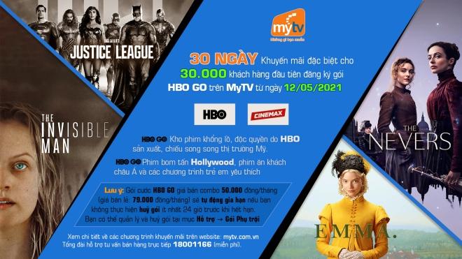 Top phim điện ảnh và series phim đáng xem nhất của HBO GO trên Truyền hình MyTV