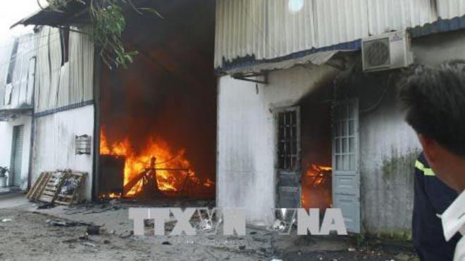 Bình Dương: Cháy lớn ở Công ty gỗ Mỹ Nghệ 3