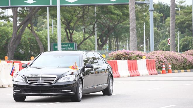 Những hình ảnh đầu tiên của nhà lãnh đạo Kim Jong-un tại Singapore