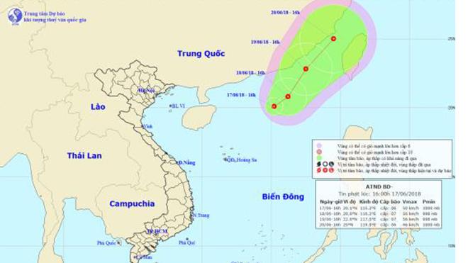 Tin áp thấp nhiệt đới trên Biển Đông