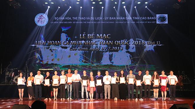 Lễ bế mạc Liên hoan Ca múa nhạc toàn quốc 2018
