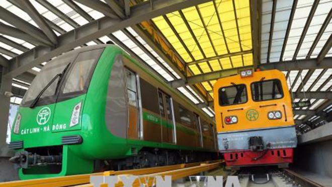 Đường sắt Cát Linh - Hà Đông đã được đóng điện lưới Quốc gia phục để chạy thử nghiệm