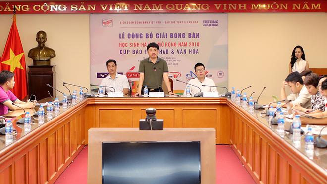 Toàn cảnh: Công bố Giải bóng bàn học sinh thành phố Hà Nội mở rộng -Cúp Báo Thể thao & Văn hóa 2018