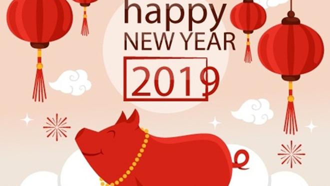 Thiệp chúc mừng năm mới đẹp và ý nghĩa Tết Kỷ Hợi
