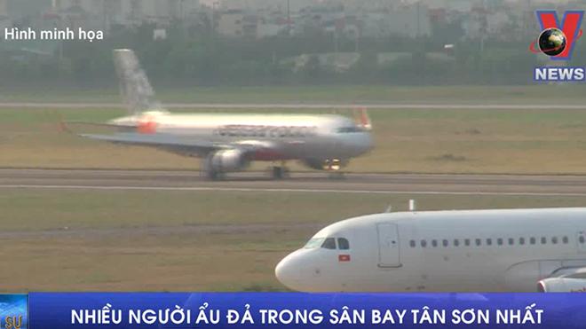 VIDEO: Nhiều người ẩu đả trong sân bay Tân Sơn Nhất
