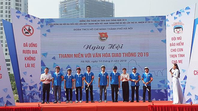 Hà Nội tổ chức ngày hội 'Thanh niên với văn hóa giao thông' 2019