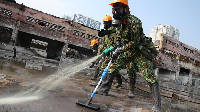 Toàn bộ phế thải nguy hại Công ty Rạng Đông được đưa về nơi xử lý an toàn