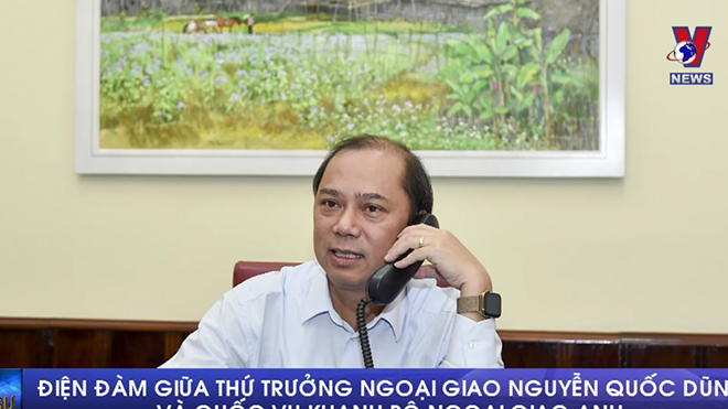 VIDEO: Điện đàm giữa Thứ trưởng Bộ ngoại giao Việt Nam và Quốc vụ khanh Bộ ngoại giao Anh