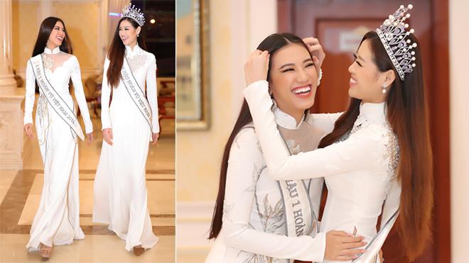 Hoa hậu Khánh Vân, Á hậu Kim Duyên gửi lời chúc thân thương tới độc giả báo Thể thao & Văn hóa