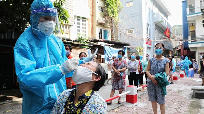 Hình ảnh Hà Nội xét nghiệm Covid-19 diện rộng cho toàn bộ cư dân phường Văn Chương
