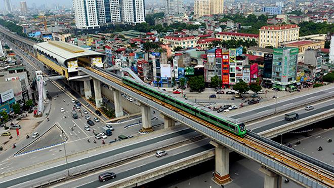 Giá vé đường sắt Cát Linh - Hà Đông thấp nhất là 8.000 đồng/lượt