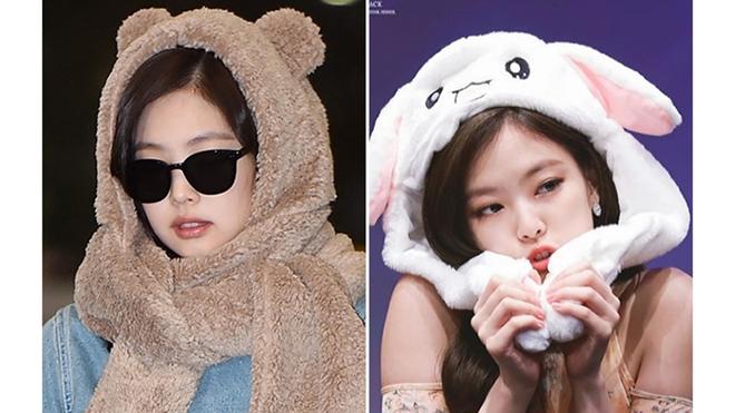 Jennie Blackpink 'hóa trang' thành bé gấu cực đáng yêu tại sân bay