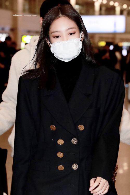 Jennie, jennie Blackpink, blackpink airport, thời trang của blackpink, jennie 2019