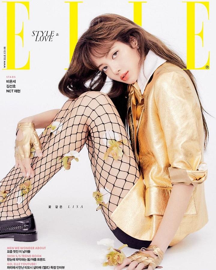 Blackpink, Lisa Blackpink, tạp chí sao, Elle Korea, thanh xuân có bạn