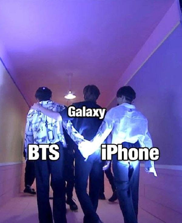 BTS, J-Hope, BTS tình tay ba, BTS samsung, bts quảng cáo, bts ảnh chế