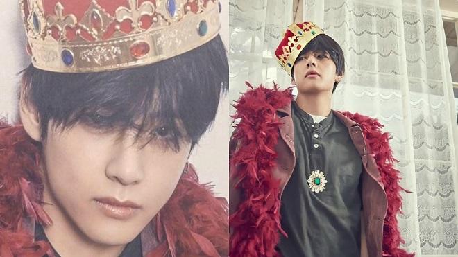 Mặc các thành viên BTS chụp ảnh hài hước, V vẫn cứ là 'ông hoàng'