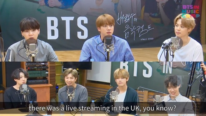 BTS, Jin, BTS Dynamite, BTS 2020, bts tin tức, bts phỏng vấn, BTS Bae Cheol Soo's Music Camp, BTS hài hước, khiếu hài hước của Jin BTS, BTS video, bts ảnh