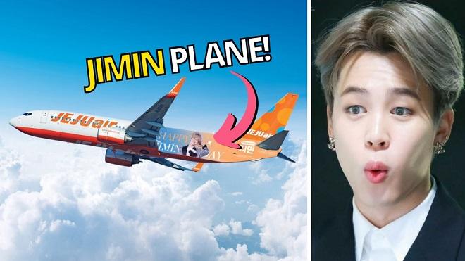 ARMY chơi cực lớn khi mang cả một chuyến bay làm quà sinh nhật Jimin BTS