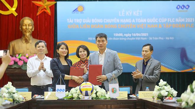 FLC tài trợ vàng giải bóng chuyền hạng A toàn quốc năm 2021