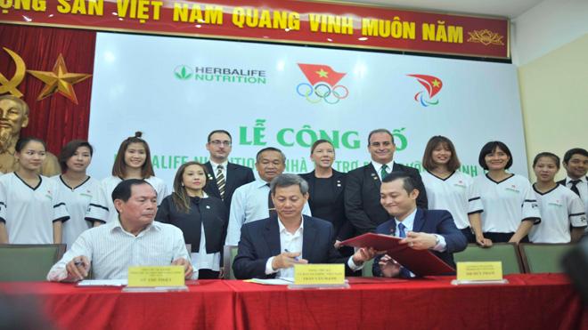 Thể thao Việt Nam được gia hạn tài trợ dinh dưỡng