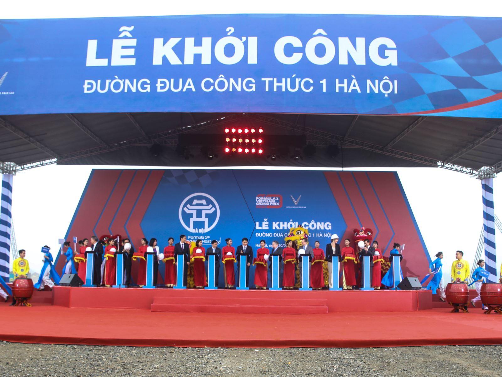 Vingroup cam kết hoàn tất đường đua F1 Hà Nội đúng hạn