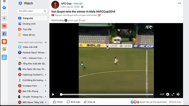 Văn Quyết bất ngờ được AFC tôn vinh