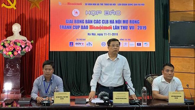 57 đơn vị dự giải bóng bàn các CLB Hà Nội mở rộng năm 2019