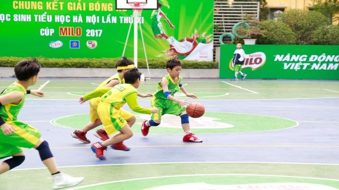Giải Bóng rổ HS tiểu học Hà Nội lập kỷ lục về số đội tham dự