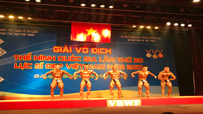 Gần 100 VĐV tham dự giải vô địch thể hình QG