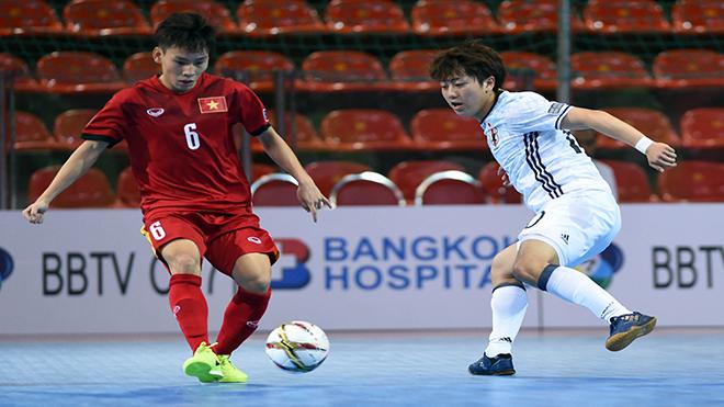 Giải futsal U20 châu Á: Thua Nhật Bản, Việt Nam ra về từ vòng bảng