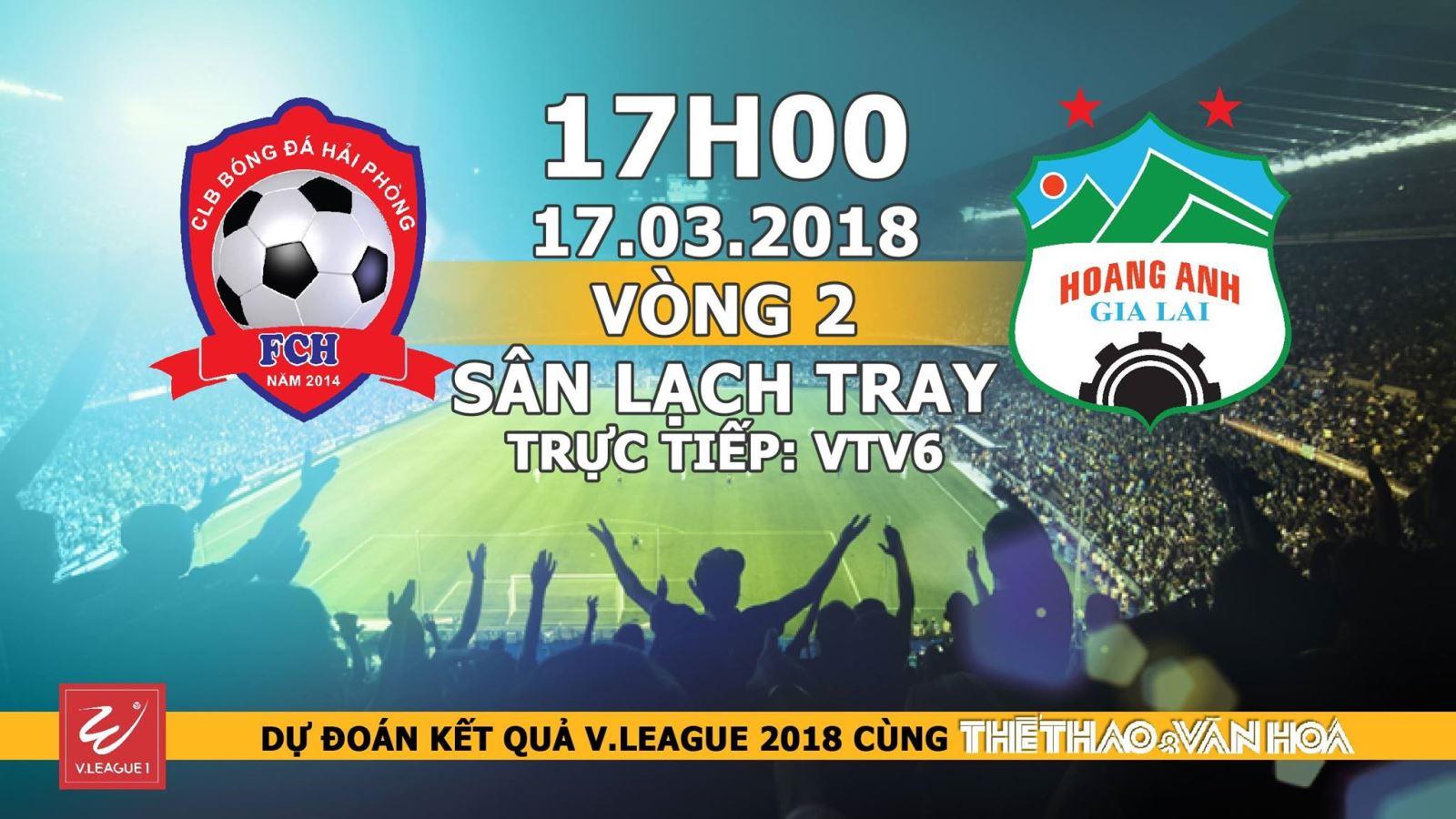 Kết quả chương trình dự đoán có thưởng vòng 2 V-League: Trận Hải Phòng - HAGL