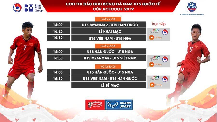 TRỰC TIẾP BÓNG ĐÁ: U15 Việt Nam vs Hàn Quốc (16h30 hôm nay), U15 quốc tế