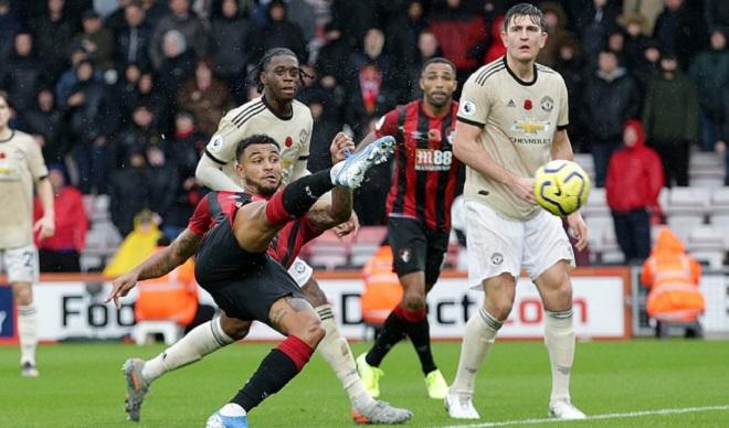 Ket qua bong da, kết quả bóng đá ngoại hạng Anh, Bournemouth 1-0 MU, kết quả MU đấu với Bournemouth, MU vs Bournemouth, kết quả bóng đá Anh, trực tiếp bóng đá, MU