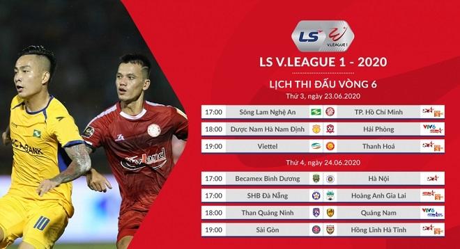 Kết quả bóng đá. Kết quả vòng 6 V.League 2020. Bảng xếp hạng V-League