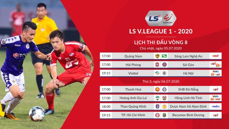 Bảng xếp hạng V-League 2020 vòng 8