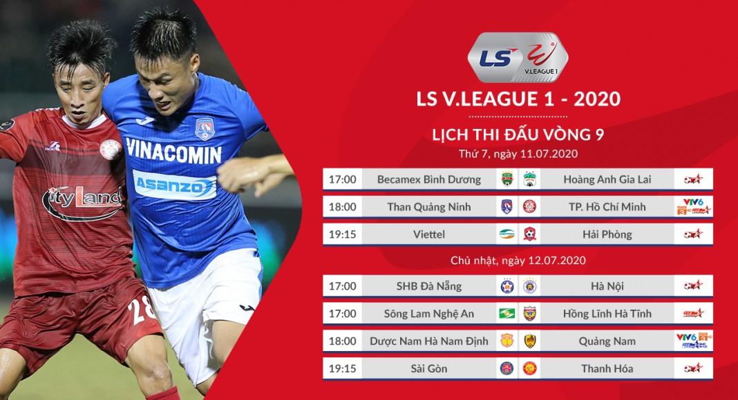 Lịch thi đấu V-League 2020 vòng 9: Sài Gòn vs Thanh Hóa. Đà Nẵng vs Hà Nội