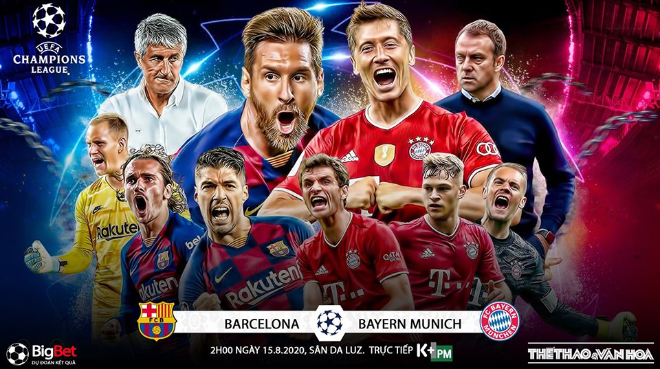 Link xem trực tiếp bóng đá. Barcelona vs Bayern Munich. Xem trực tiếp bóng đá cúp C1 châu Âu. Trực tiếp vòng tứ kết Champions League. Trực tiếp Barcelona đấu với Bayern