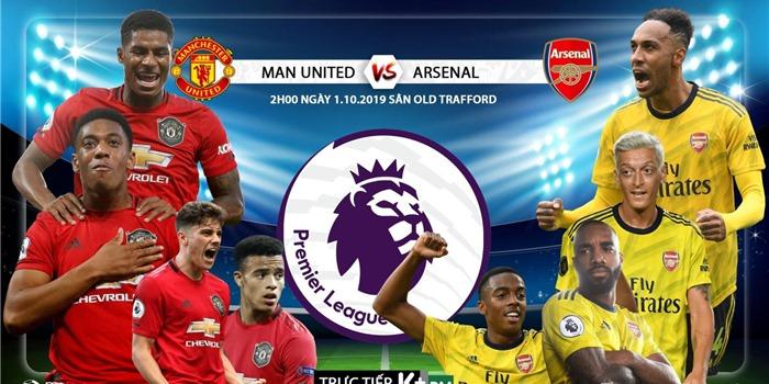 Lịch thi đấu ngoại hạng Anh: Arsenal vs MU. K+, K+PM trực tiếp bóng đá Anh