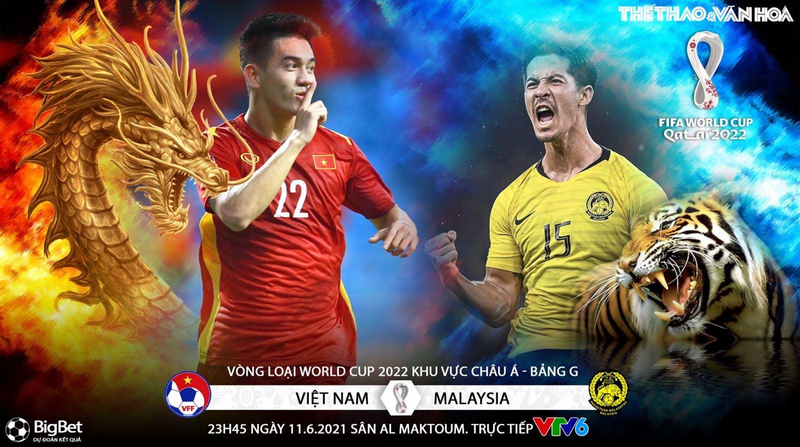 Lịch thi đấu bóng đá Việt Nam vs Malaysia hôm nay. Lịch vòng loại World Cup 2022