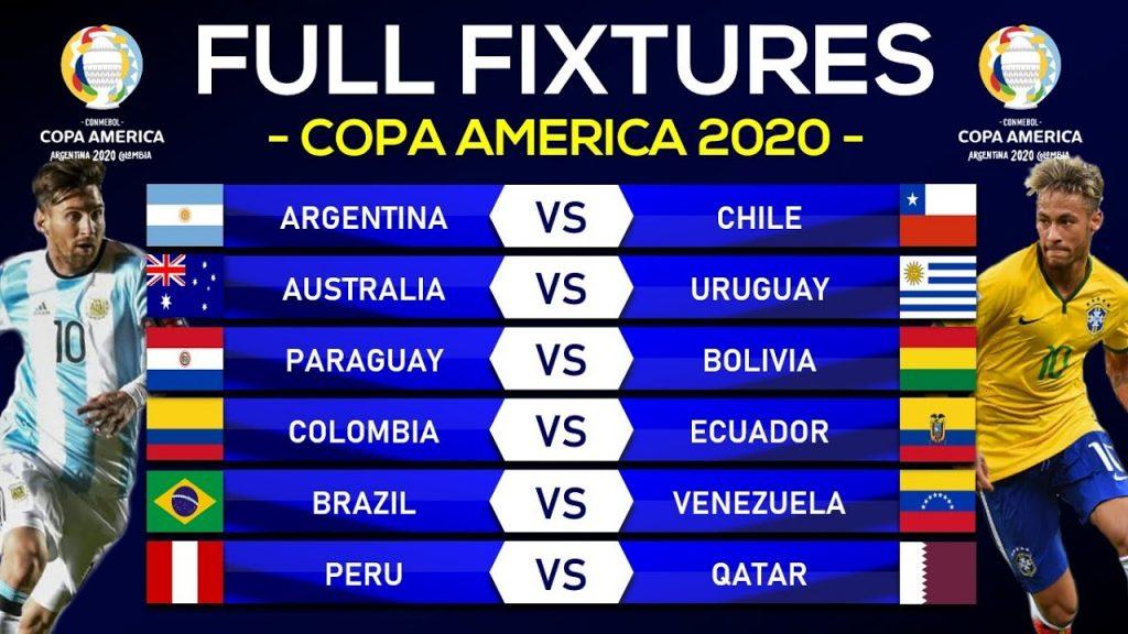 Bảng xếp hạng Copa America 2021