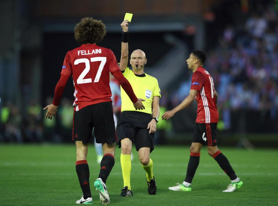 Fellaini Celta Vigo 0-1 Man United