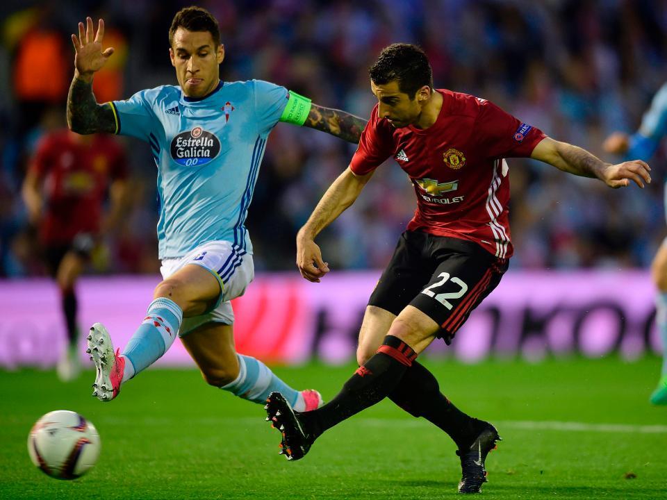 Mkhitaryan Celta vigo 0-1 Man United