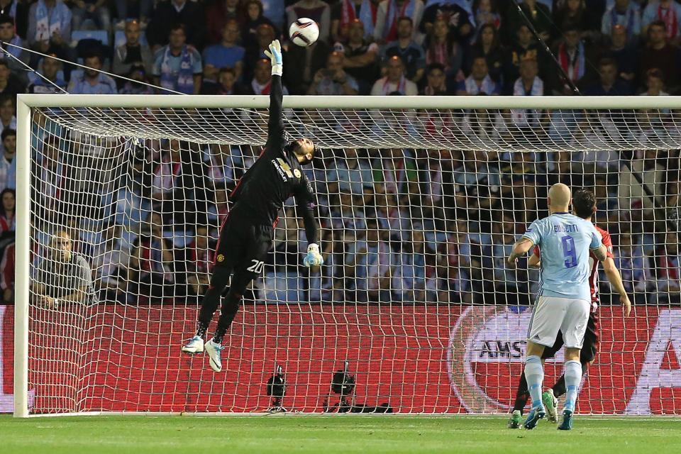 Sergio Romero Celta Vigo 0-1 Man United